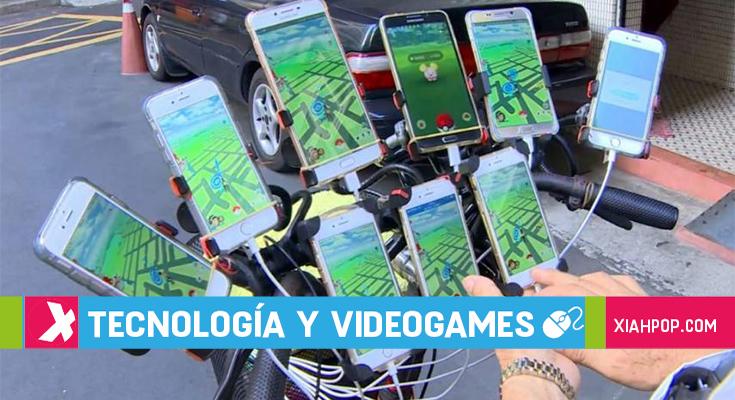 ¡Con 70 años y 11 celulares recorre Taiwán jugando «Pokémon Go»!