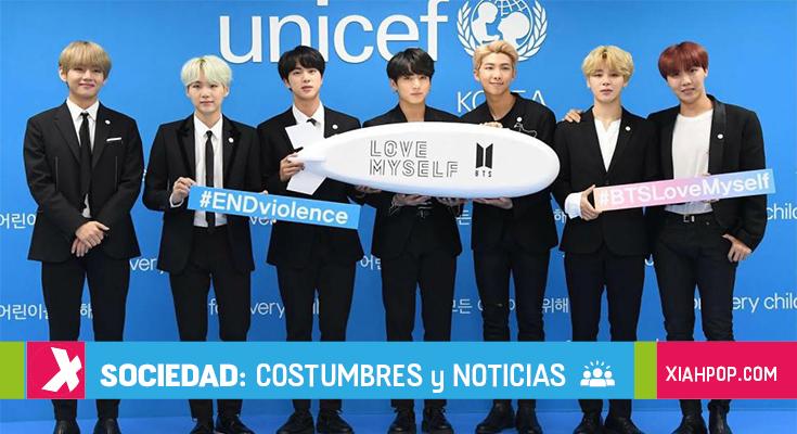 BTS junto a UNICEF realizan un video contra el bullying
