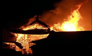 Se incendió el Castillo Shuri en Okinawa