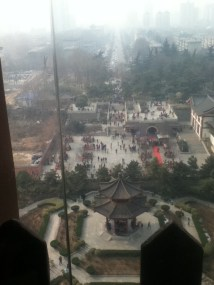 View from the pagoda, look at all that smog! So China!