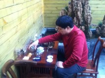 uncle with his tea