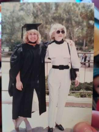 My mom graduating and my grandma rocking stormtrooper chic