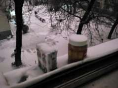 My fridge aka the ledge outside my window. Might wanna buy a real one before April
