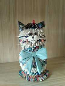 Craft cat from the home (recycled paper!)