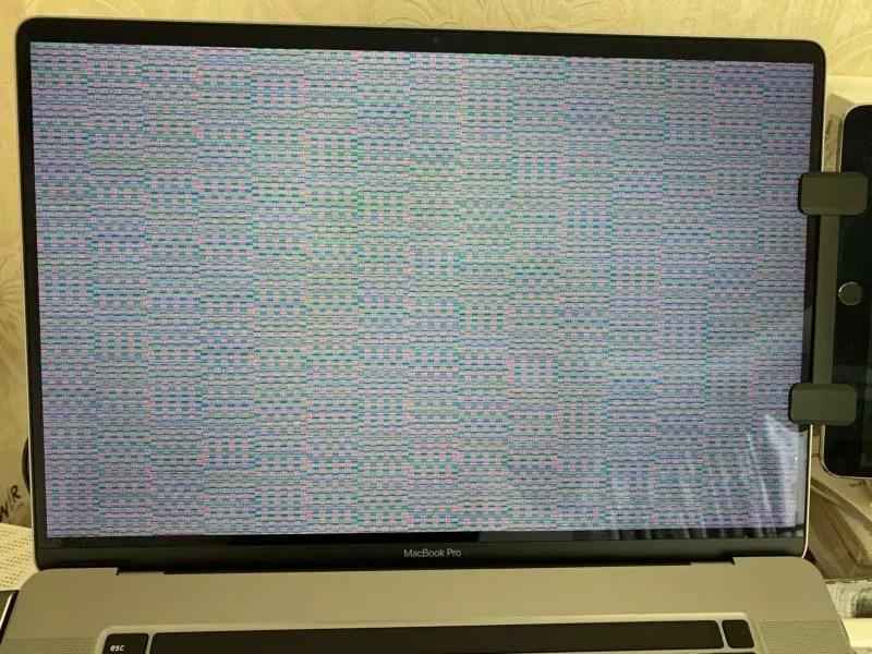 MacBook Pro 16インチ 画面エラー