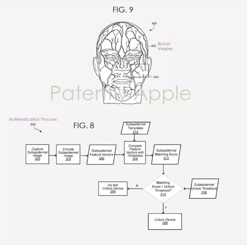 Apple FaceID 静脈認証 特許