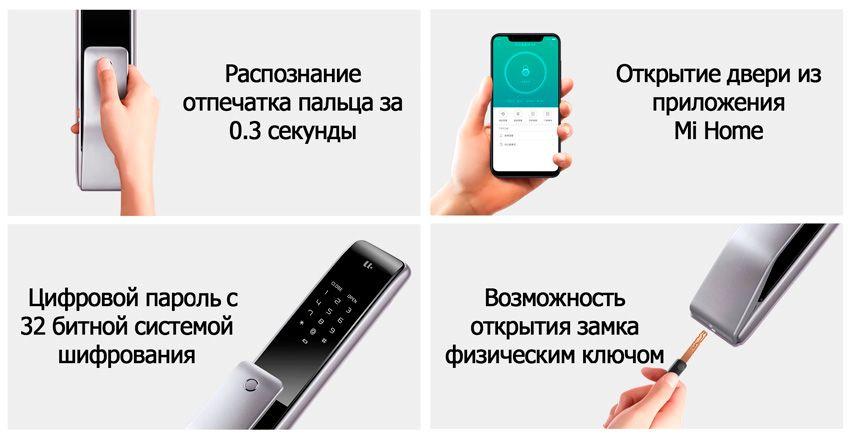 Функции замка Xiaomi M2 Push Pool