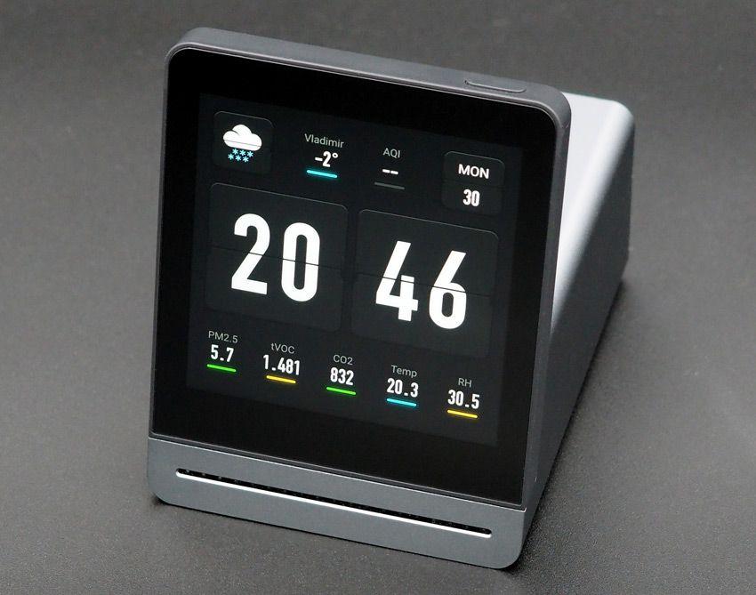 Время на анализаторе воздуха Xiaomi