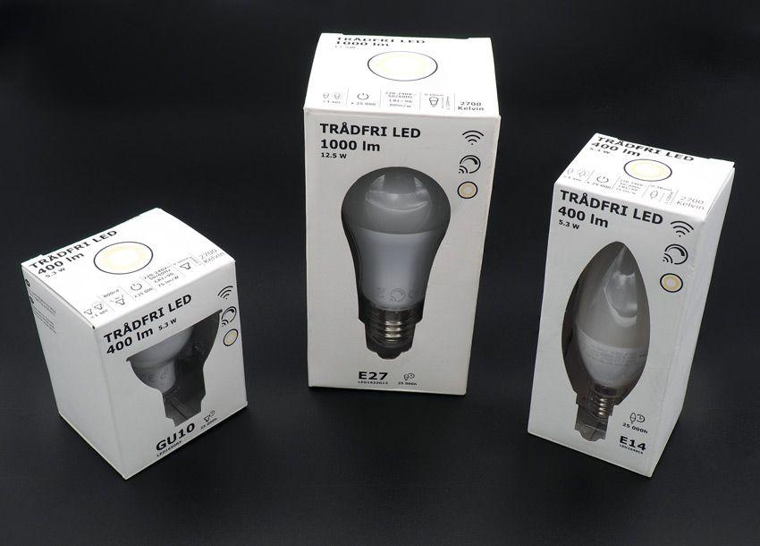 Упаковка умных ламп ИКЕА