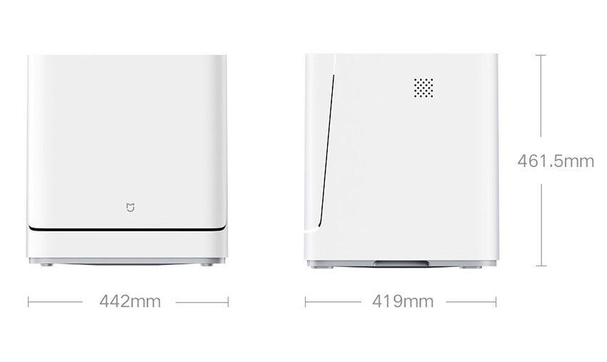Размеры настольной посудомоечной машины Xiaomi