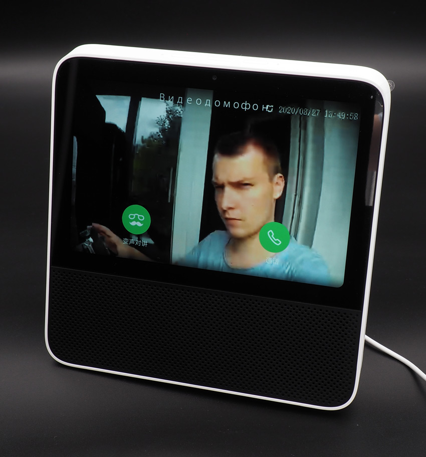 Работа видеоглазка Xiaomi с сенсорным дисплеем