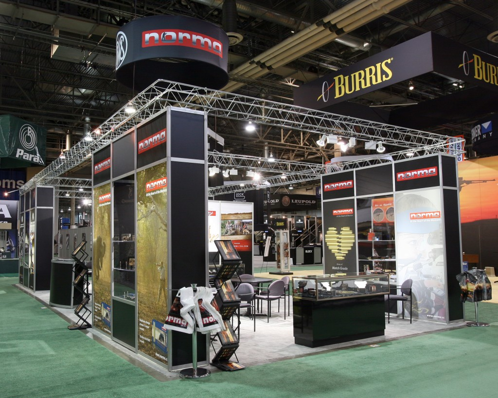 large trade show booth display