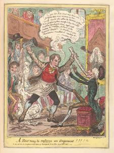 Cartum político britânico de George Cruikshank (artista) e George Humphrey (autor). 1815. (CC) Bodleyan Libraries, University of Oxford.