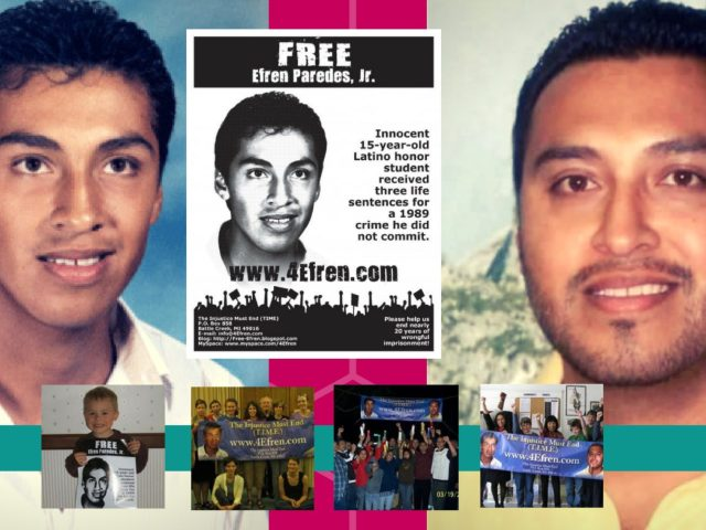 Free Efrén: 15-year old honor student, wrongly charged 3 life sentences, spends 27th year changing the world from inside a cell
