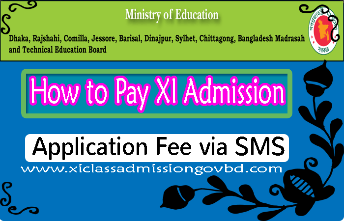 How to Pay XI Admission Application Fee via SMS