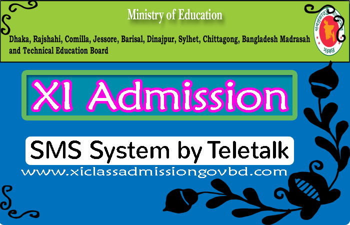 XI Admission SMS System by Teletalk