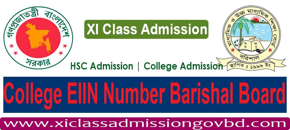 College EIIN Number Barishal Board