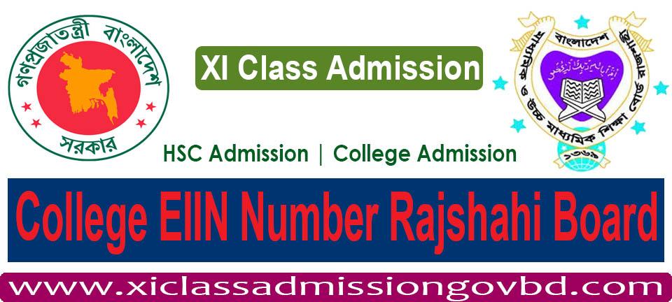 College EIIN Number Rajshahi Board