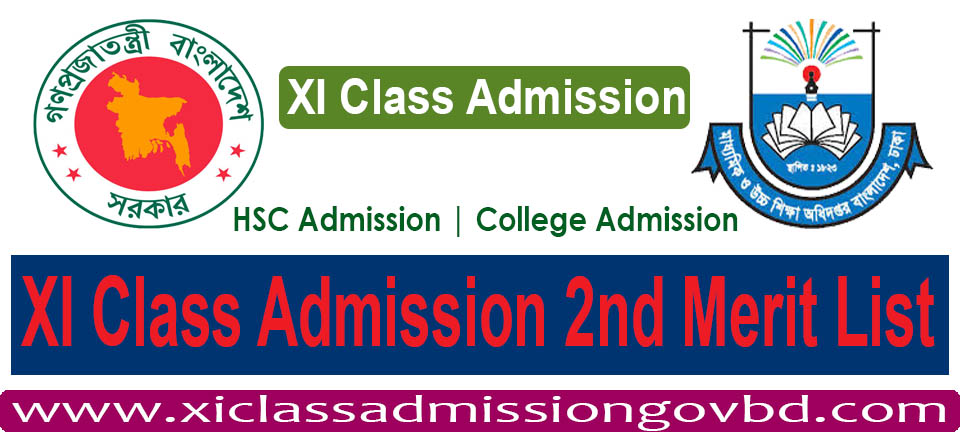 XI Class Admission 2nd Merit List