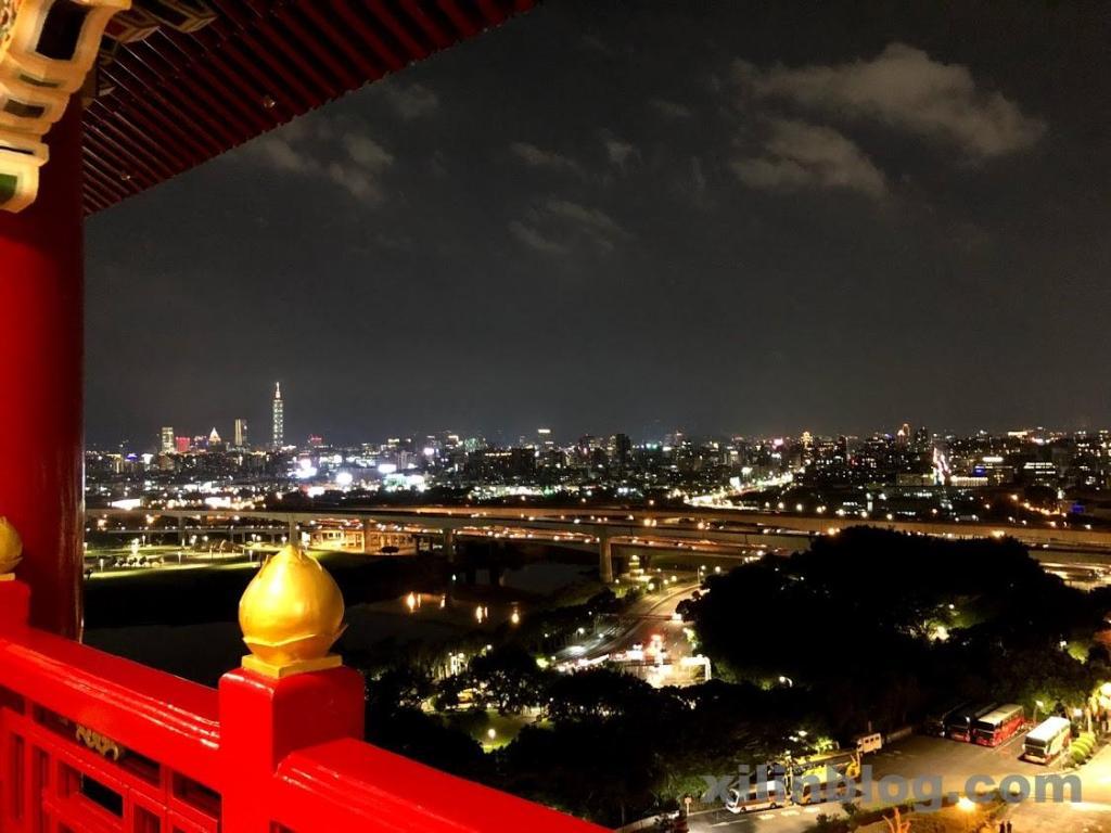 ザ・グランドホテル台北のプレステージ ホライズンルームからの夜景(左側)