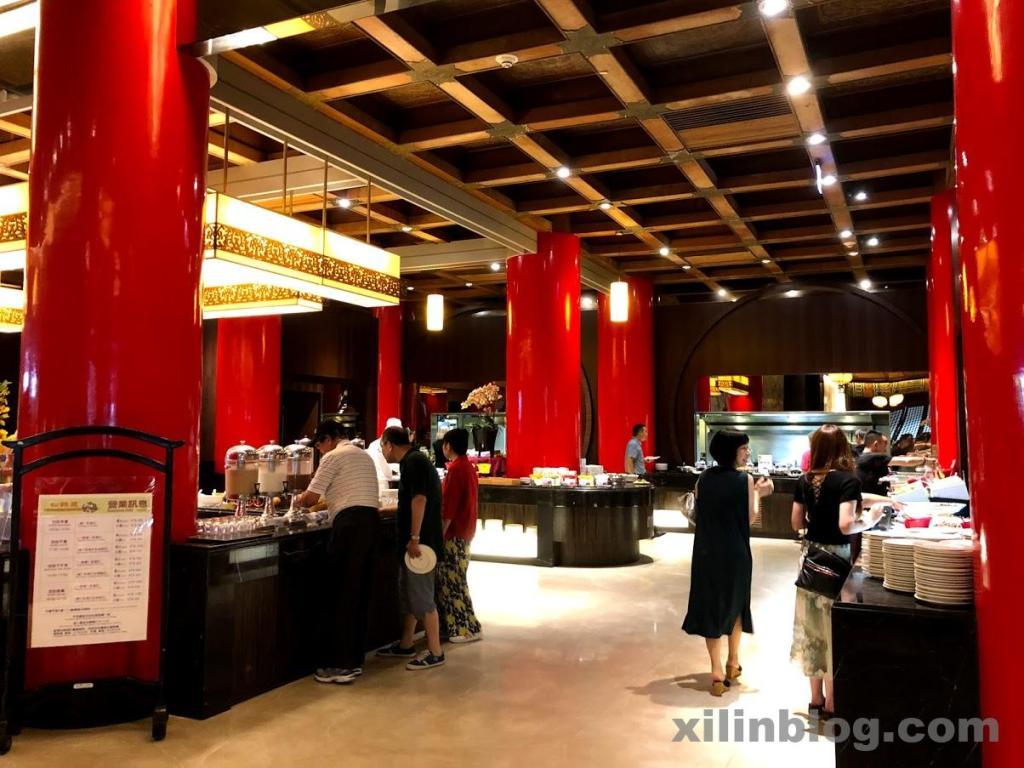 ザ・グランドホテル台北の朝食ビュッフェ会場