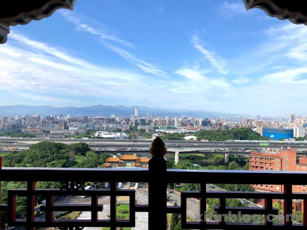 ザ・グランドホテル台北のプレステージ ホライズンルームからの眺め(正面)