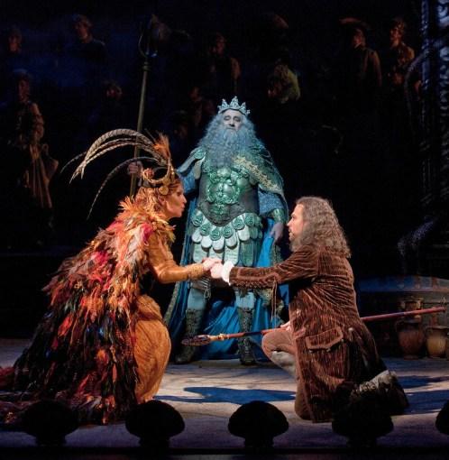 Joyce DiDonato, Plácido Domingo i David Daniels a The Enchanted island al MET 2012. Foto:Ken Howard/Metropolitan Opera