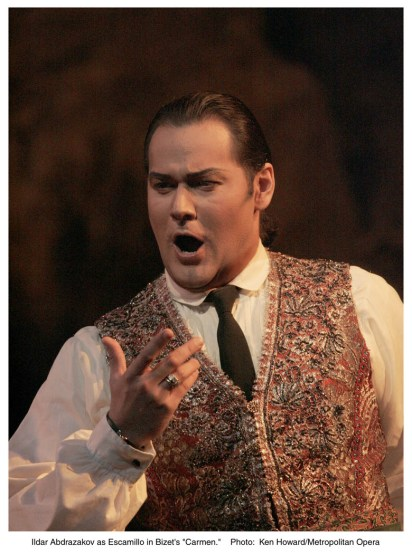 Ildar Abdrazakov (Escamillo) , fotografia Ken Howard and/Metropolitan Opera