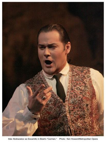 Ildar Abdrazakov (Escamillo) , fotografia Ken Howard and/Metropolitan Opera