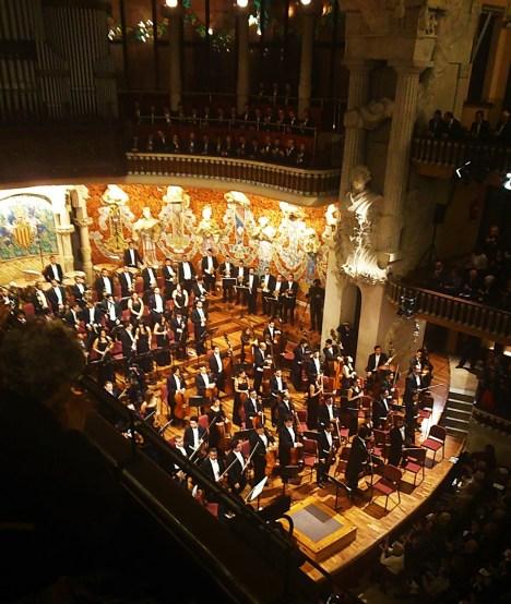 Dudamel i la Orquesta ASinfónuica Simón Bolivar de Venezuela al Palau. Foto IFL