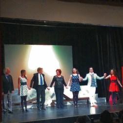 Raúl Giménez, Sara Bañeras, Jochen Schönleber, Marta Puyol, Ana Victoria Pitts, César Arrieta i Sílvia Aurea de Stefano al Teatre de Sarrià. Foto IFL