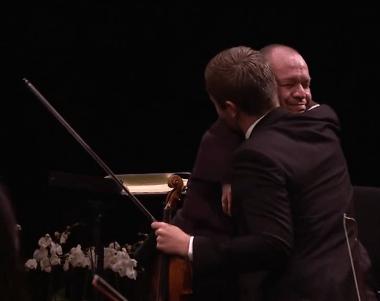 emocionant abraçada entre Thomas Quasthoff i Alerto Gon´zalez
