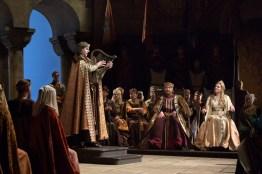 Peter Mattei, Günther Groisbök i Eva Maria Westbroek al Tannhäuser Fotos: Marty Sohl / The Metropolitan Opera