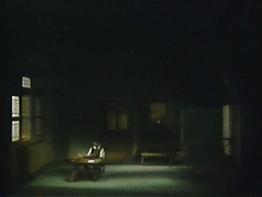 Die Meistersinger von Nürnberg Gran Teatre del Liceu 18 d'abril de 1989 Escenografia Josep Mestres Cabanes acte 3er Bernd Weikl (Hans Sachs)