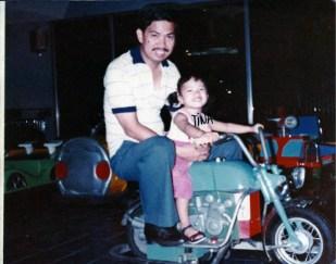 Cristina with Dad at Quad Square