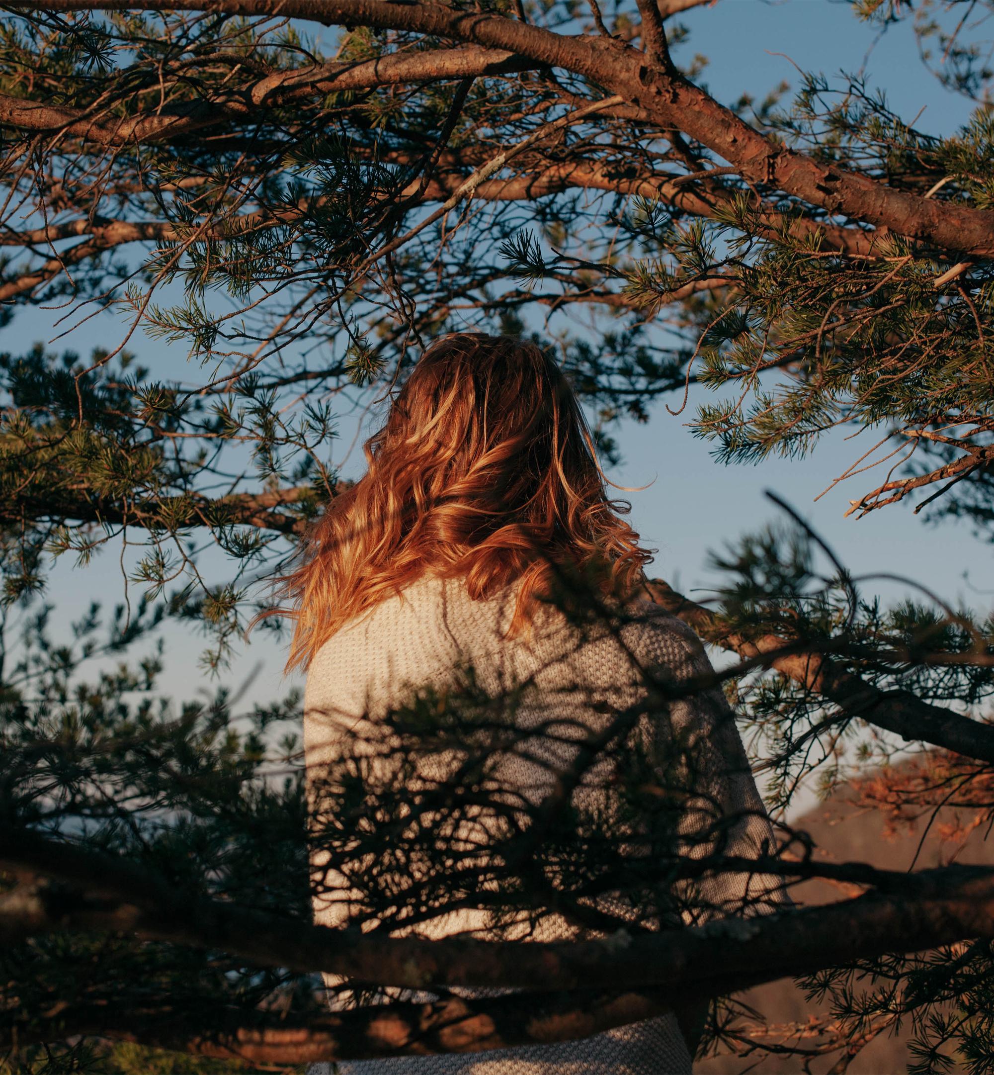 girl in trees