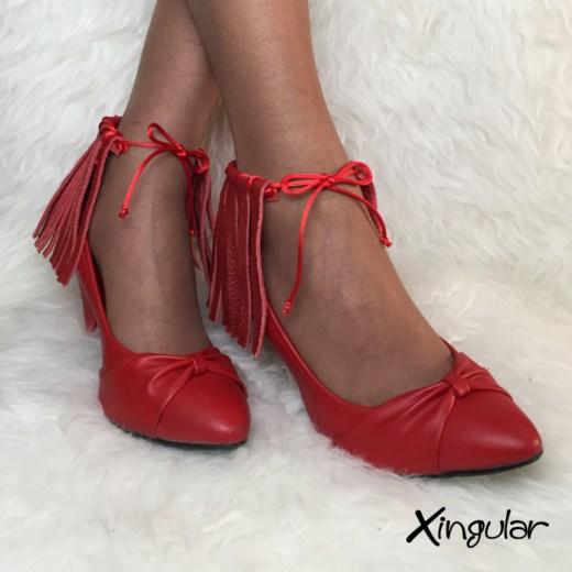 flecos piel roja stilettos xingular par
