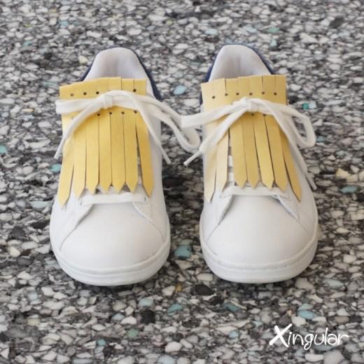 flecos zapatillas dorados par juntos 2018