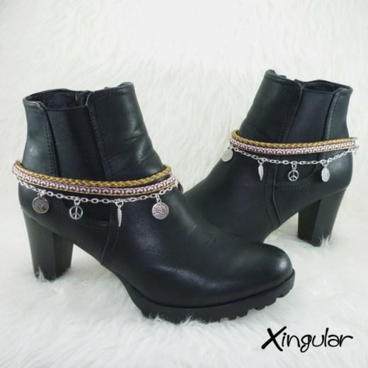 pulsera-botas-etnico-marron-y-rosa-y-trenzado-marron-con-borde-dorado-par