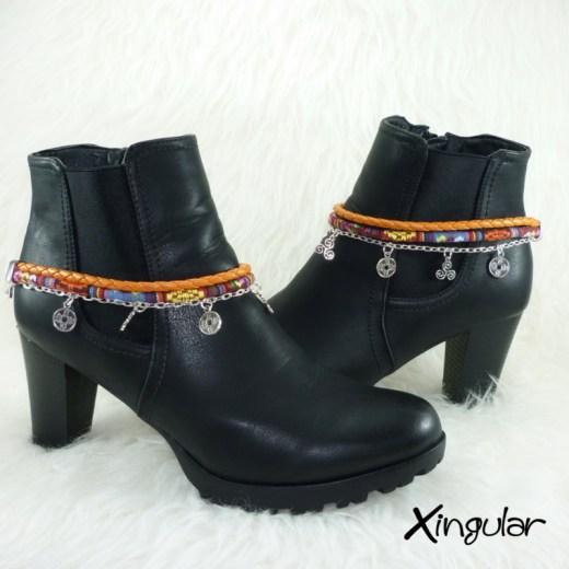 pulsera-botas-etnico-naraja-multicolor-y-trenzado-naranja-par