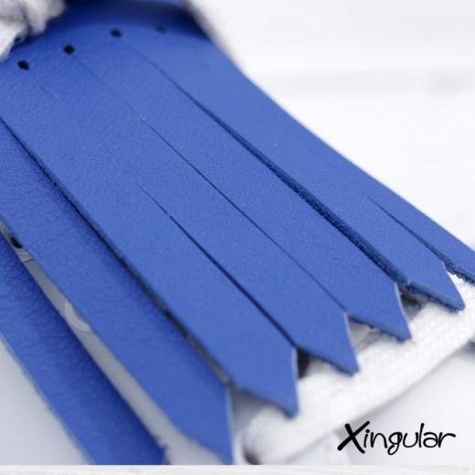 flecos zapatillas azul electrico detalle
