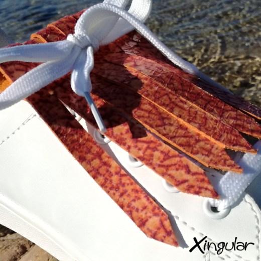 flecos zapatillas murano rojo mar detalle