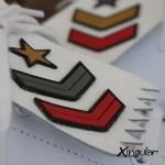 flecos zapatillas militar detalle