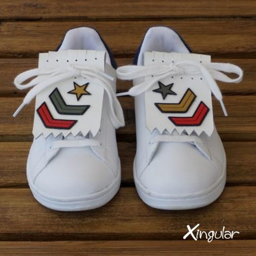 flecos zapatillas militar par juntos