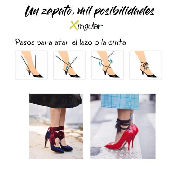 ideas adornar zapatos-Lazos