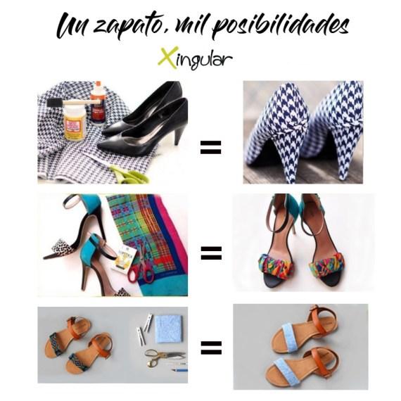 ideas adornar zapatos-Forrarlos