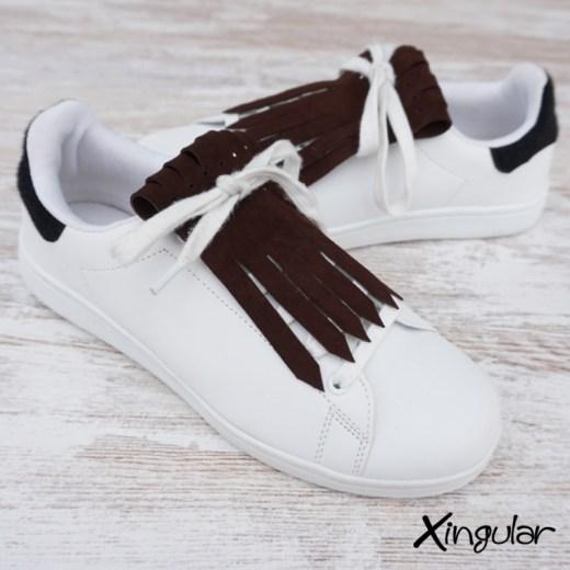 flecos zapatillas ante chocolate par