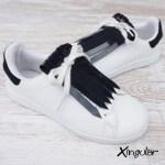 flecos zapatillas charol azul marino par 2