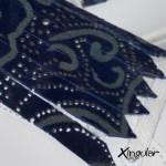 flecos zapatillas potro azul marino detalle