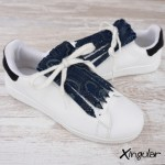 flecos zapatillas potro azul marino par 2